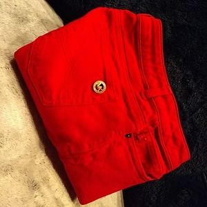 Michael Kors red stretch skinny pants size 4